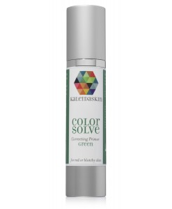 green tinted primer reduces the appearance of red and blotchy skin