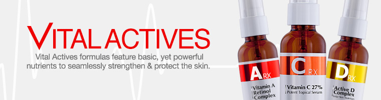Shop Vital Actives Vitamin A, C & D Anti-Aging Serums