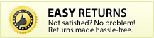 EASY Returns - Arent Satisfied? No problem! Returns made hassle-free