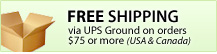 FREE Shipping via UPS Ground on orders $75 or more (USA & Canada)