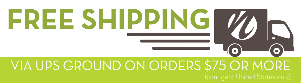 Enjoy fre shipping on all orders over $75 in the contiguous US